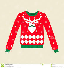 christmas ugly sweater stock vector image 58621606