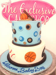 Sports Baby Shower Cake Ideas Baby Shower Cakes Exclusive Cake Shop