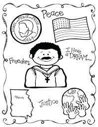 Free Martin Luther King Coloring Pictures Pages For Kids Home Dr Martin Luther King Jr Coloring Pages