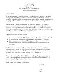 operations manager cover letter examples for management livecareer