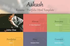 Bootstrap Resume Template Aakash Portfolio Resume Template Bootstrap Themes Creative