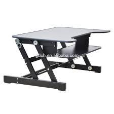 Sit And Stand Computer Desk by Portable Wooden Desktop Table Folding Adjustable Laptop Riser