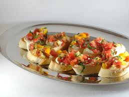 tomato crostini with whipped feta great eight friends