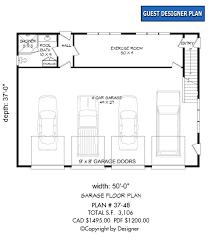 garage plan 37 48 house plans by garrell associates inc