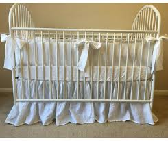 Crib Bedding Set With Bumper White Crib Bedding Set With Ruffled Bumper Gathered Crib Skirt
