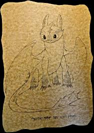 toothless nightfury sepia drawing toothless