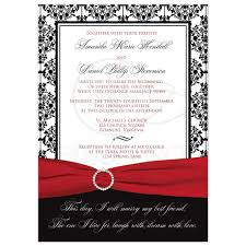 Damask Wedding Invitations Black And White Wedding Invitations With Ribbon Pacq Co