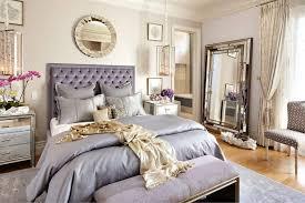 luxury bedroom using floor mirror and wall mirror also silk purple
