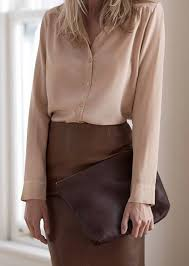 brown blouse white washed silk button fastenings through front 100 silk