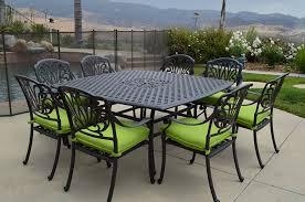 Aluminum Patio Dining Set Furniture Charming 9 Piece Cast Aluminum Patio Furniture Outdoor
