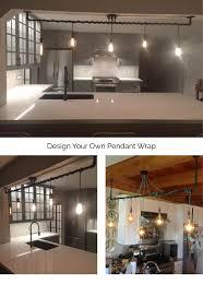 5 pendant light wrap a pipe or bar modern chandelier