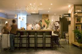 cafe kitchen design cafe kitchen idea with high stool design for cozy seating feel