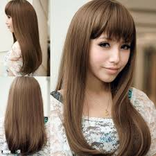 long layers with side bangs asian korean hairstyle with bangs