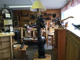 tall bear lamp mountain breeze log furniture