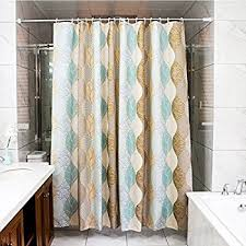 Curtains With Hooks Amazon Com Shower Curtain With Strip Pattern Polyester Fabric