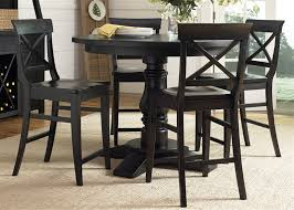round counter height table set lake round pedestal counter height table 5 piece dining set in dark