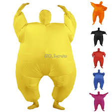 Blow Halloween Costumes Halloween Costumes Chub Pure Color Sumo Suit Inflatable