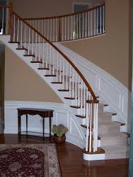 Stair Moulding Ideas by Wainscoting Along Curved Stairs Wainscotting Design Ideas