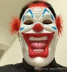 Scary Clown Halloween Costumes Men Wholesale Pvc Scary Clown Mask Joker Men U0027s Face Party