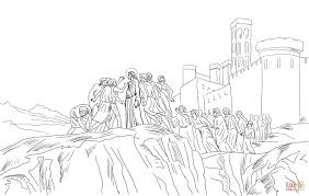 jesus rejected in nazareth coloring page free printable coloring