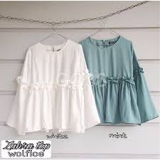 blouse wanita blouse wanita blouse wolfis elevenia