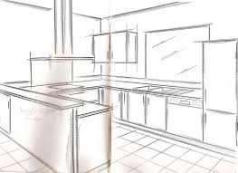 cuisine en perspective cuisine en perspective les meubles perron perspective dessin en
