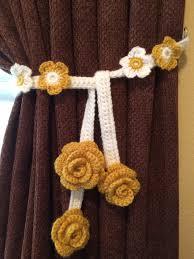 crochet home decor pattern u0027flower u0027 tie back crafts