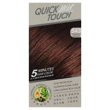 Light Copper Brown Quick Touch 543 Light Mahogany Copper Brown 5 Minutes Hair Color