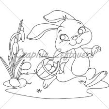easter bunny coloring page gl stock images