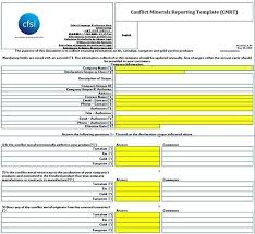 conflict minerals reporting template conflict minerals reporting template business template