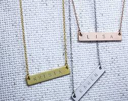 personalized engraved necklaces engraved necklace etsy