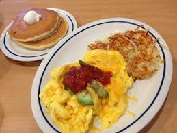 chicago foodie sisters ihop serving new world scrambles