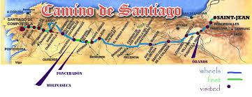 Lourdes France Map by Camino Frances Map Recana Masana