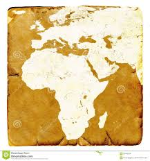 Blank Map Of Africa by Map Of Africa And Europe Blank In Old Style Brown Graphics In A