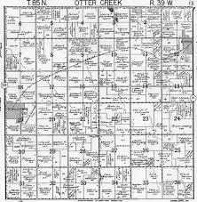 Plat Maps by 1958 Otter Creek Township Crawford County Iowa Plat Maps
