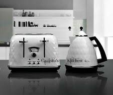 Delonghi Icona 4 Slice Toaster Black Delonghi Icona Cream Kettle U0026 4 Slice Toaster Set Ebay