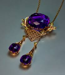 amethyst jewelry necklace images Antique amethyst jewelry siberian amethyst gold antique jpg