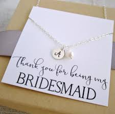bridesmaid jewelry gifts personalized bridesmaid necklace sterling silver initial necklace