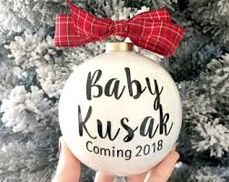 pregnancy announcement ornaments