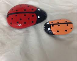 Ladybug Desk Accessories Ladybug Rock Etsy