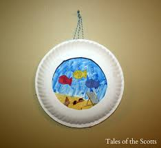 paper plate aquarium fun family crafts