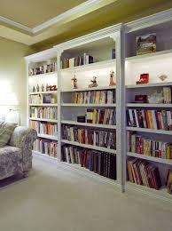 built in lighted display shelves
