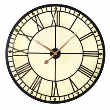 themed clock lit metal wall clock mo s