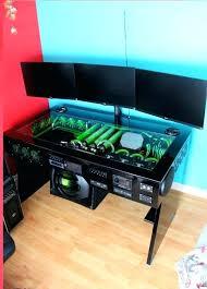 custom built pc desk scratch build water cooled desk mod with built in car sound system custom built pc desk computer