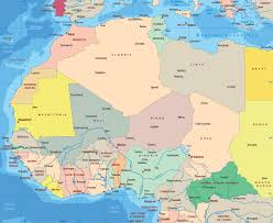 Africa Map Countries by Western Africa Map