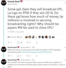 epl broadcast here s why tax payers money should not be used for epl