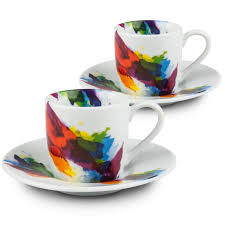 cool espresso cups konitz on color flow espresso cups and saucers reviews wayfair