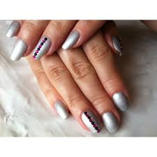 cnd creative nail design shellac power polish silver chrome