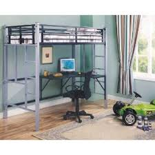 Metal Loft Bed With Desk Bunk Bed Image Of Metal Loft Bed Twin - Metal bunk bed with desk