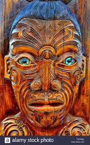 maori wood carving decoration stock photos maori wood carving